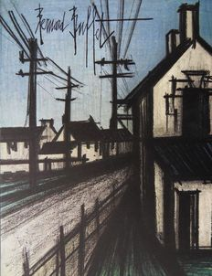 Bernard Buffet (after)- L'entrée du village