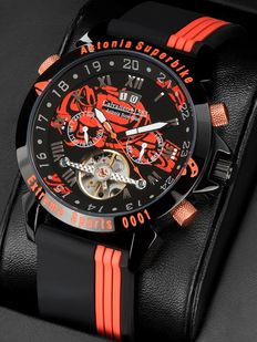 CALVANEO 1583, Astonia Speedway Superbike Race. Men's wristwatch. New – Never wron