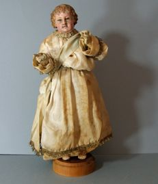 Sculpture of the Baby Jesus - Naples - Italy - 19th century