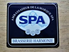 ' SPA ' the sparkling mineral water-enamel sign-2002.