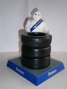 Michelin / Bibendum - pen tray & memo pad / letter holder - 1980 - 1990
