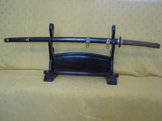 Authentic Japanese WWII Emerial Marine officer's katana (Kai Gunto), Showa era (1926-1945).