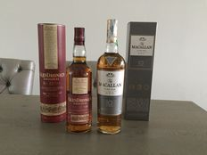 2 bottles - GlenDronach 12 The Original (old version) & The Macallan 10 Fine Oak