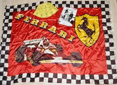 Original 1970`s Ferrari Lot incl Flag, Sunhat and signed Niki Lauda Pressphoto