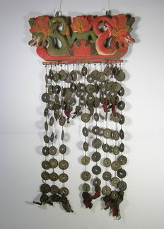 Temple pendant with Chinese coins - Bail - Indonesia