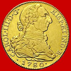 Spain - Carlos III (1759 - 1788), doubloon of 4 gold escudos Madrid, 1780