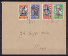 Belgium 1943 - series Flemish legion with overprint 1943 - OBP E34-E37