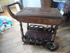 Liqueur trolley or a serving trolley from Peru