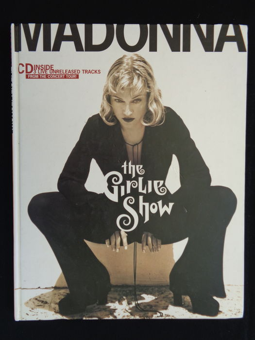 Madonna - The Girlie Show - World Tour - Very Rare - Hardcover with compact disc.