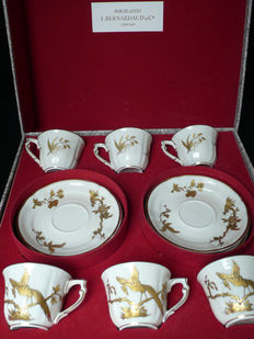 Bernardaud - Coffee Service fine gold gild and white porcelain