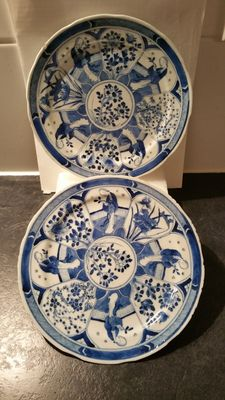 Two 'Long Eliza' porcelain plates – China – 19th century