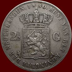 The Netherlands – 2½ guilder coin 1850 Willem III – silver