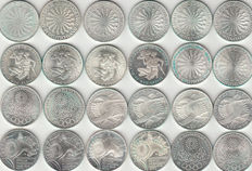 Germany – Lot of 24 coins – 1972 – Silver