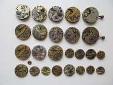 Set of 25 - pocket watches and dials -