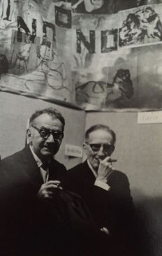 Pablo Volta (1926-) - Man Ray and Marcel Duchamp, Paris, 1965