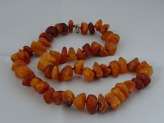Necklace made of genuine Baltic amber, 72 grams.