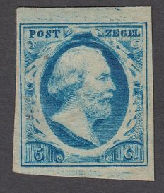 The Netherlands 1852 – King Willem III first emission – NVPH 3c, with certificate of inspection