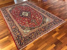 Very nice Persian Kaschan handknotted 200x310 cm with certificate around 1990
