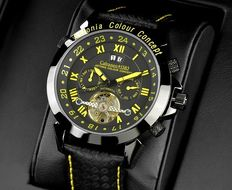 Calvaneo 1583: Astonia color concept racing yellow – Men's automatic wristwatch – New