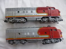 Märklin H0 - 3060/4060 - Diesel locomotive F7 of Santa Fe
