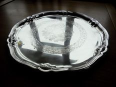 Antique English Silver Plated plate by G.A. B., Sweden, around 1920