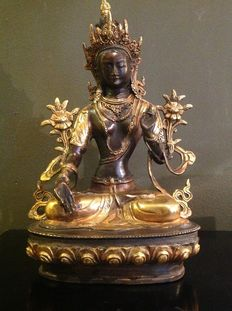 Bronze white Tara, Nepal, end 20th / beginning 21st century