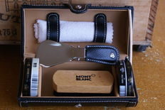 Exceptional and Rare Montblanc Luxury Leather Travelling Shoe Shine Kit