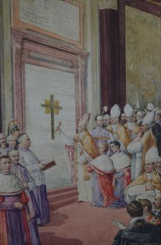 Tito Conti (1842-1924) - A papal blessing at the tomb of Pope Gregory XIII.