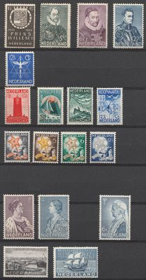 The Netherlands 1933/1934 – Selection of complete series – NVPH 252 through 269