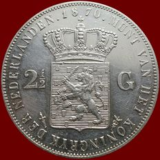 The Netherlands – 2½ guilders, 1870 Willem III – silver