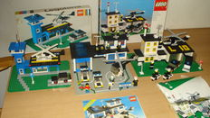 Legoland / Classic Town - 354 + 370 + 6384 - Loader Hopper with Truck + Police Headquarters + Police Station