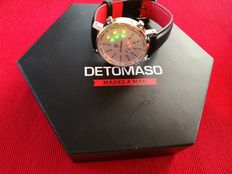Detomaso Spacy Timeline 2 men's watch binary LED stainless steel casing silver white new