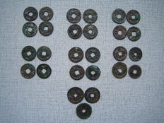 China - Lot assorted coins (33 pieces) partly unidentified