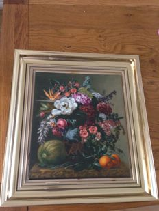 Royal Copenhagen - Porcelain Plaque Floral Still Life After J.L. Jensen