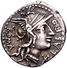 Roman Republic - silver denarius Q. Fabius Labeo, Rome in 124 B.C. / ex collection E. E. Clain-Stefanelli.