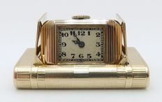 Pocket and table watch – 14 kt gold – Ca.