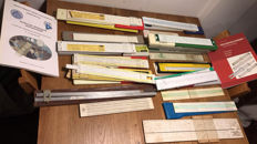 CA. 50, 5 count drives and 5 books/catalogues about computing rulers and drives.