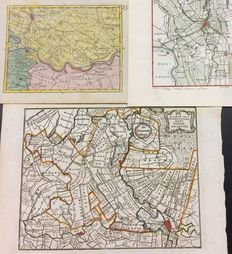 Utrecht; De Lat and others - 3 copper engravings - ca. 1755