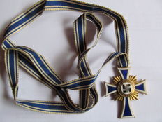 Mother Cross in Gold on Original Ribbon