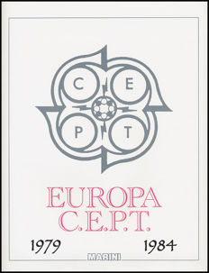 EUROPE CEPT 1979-1984 Complete Collection MNH ordinary Post mounted on Marini sheets.