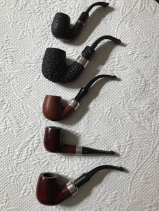 Excellent pipe collection: 5 Peterson and 1 Savinelli Luxor