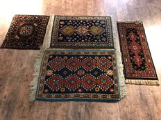 Beautiful hand-knotted Persian carpets. 4 pieces.