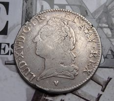 France – Louis XV – Ecu 1774-& Aix – silver