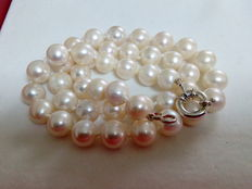 Cultured pearl and 925/1000 silver necklace
