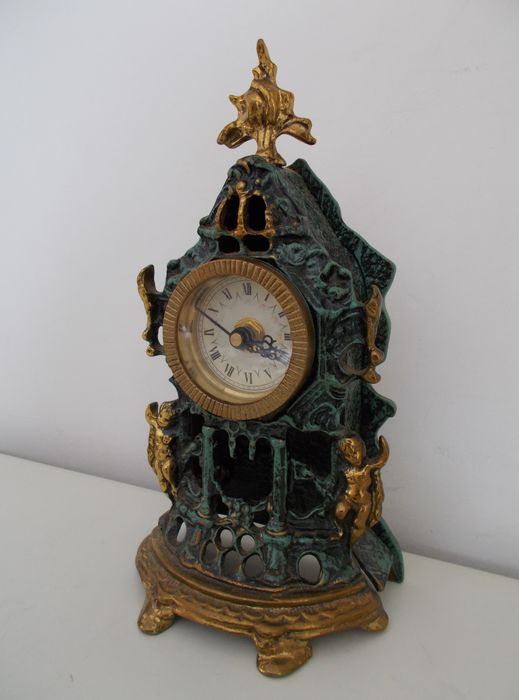 Decorative Table Clock   In Baroque Style, Mid 20th Century, Italy