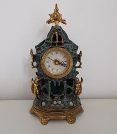 Decorative table clock - in baroque style, mid 20th century, Italy