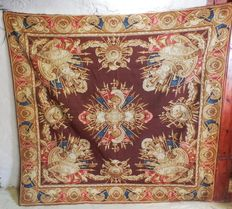 A Tapestry Aubusson hand woven - Chancellerie aux armes - Napoleon III, France 19th century