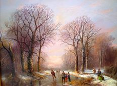 Simon Twint (1937-) - Winterlandschap