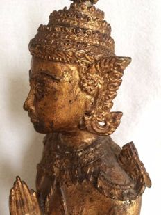 A bronze temple guardian (2.4 kg) - Thailand - 2nd half of the 20th century.