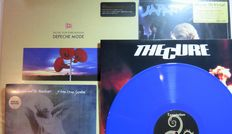 The Cure / Siouxsie & The Banshees / Depeche Mode / Japan: Great lot of 3 (New) Wave albums (4LP's) + 1 double 7inch single of which 2 albums on coloured vinyl - all long deleted releases!